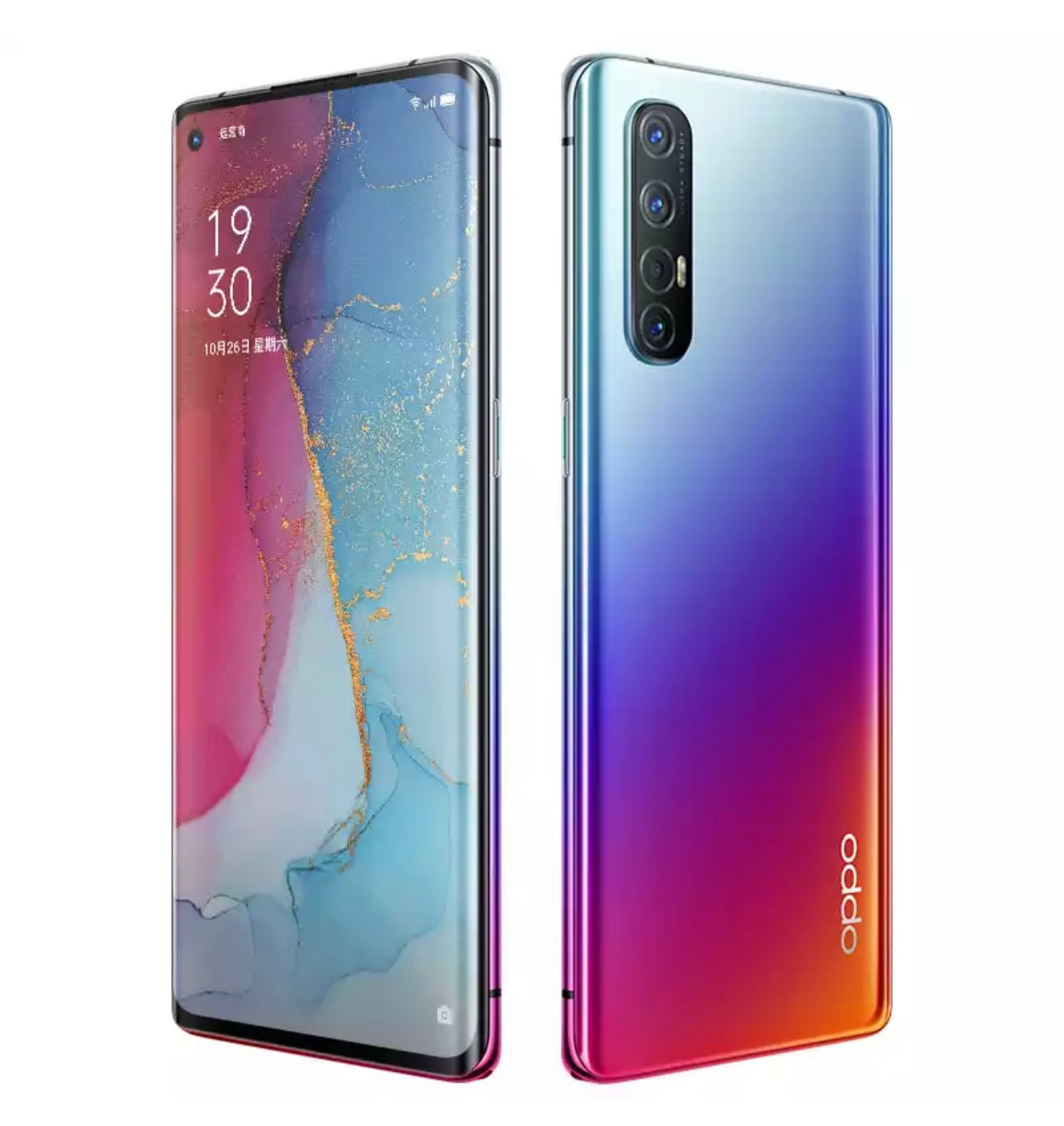 Oppo Reno 3 Pro official looking renders surface