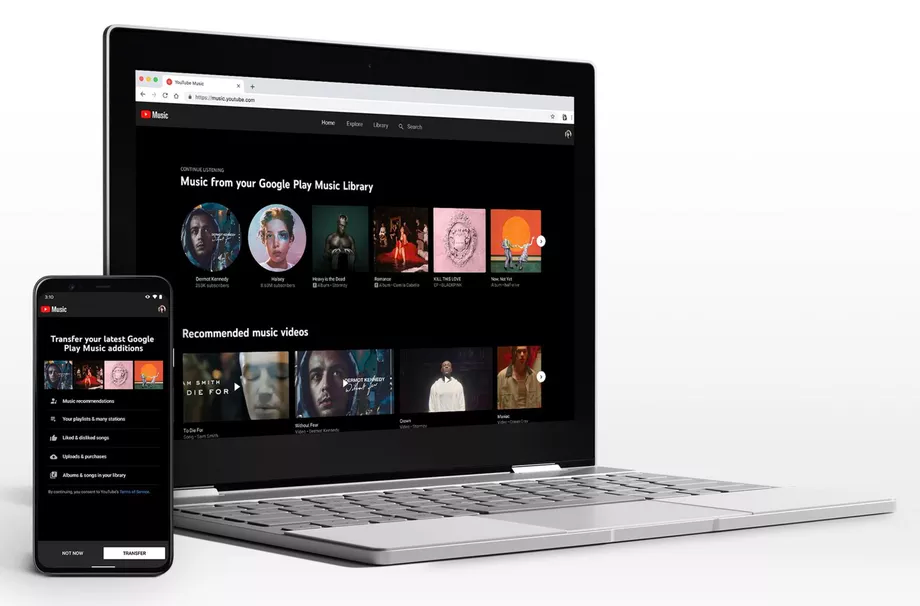 Move Google Play Music to youtube Music