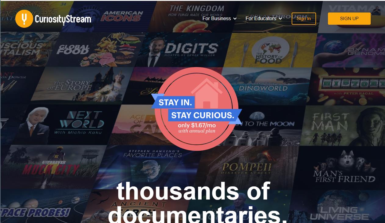 Curiositystream subscription