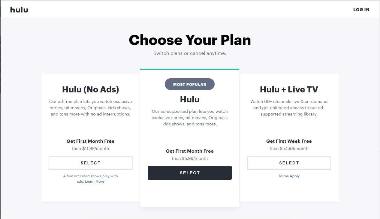 how to get Hulu free