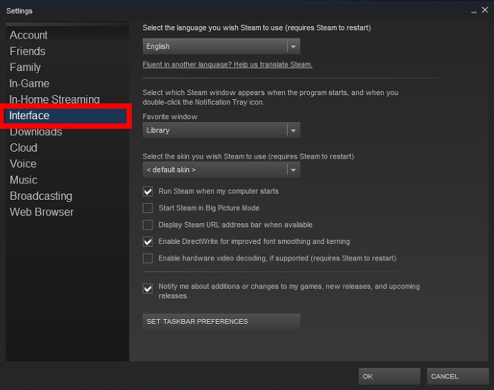 Turn Off Steam's Popup Ads