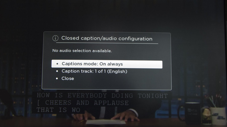 Closed Captions on Roku