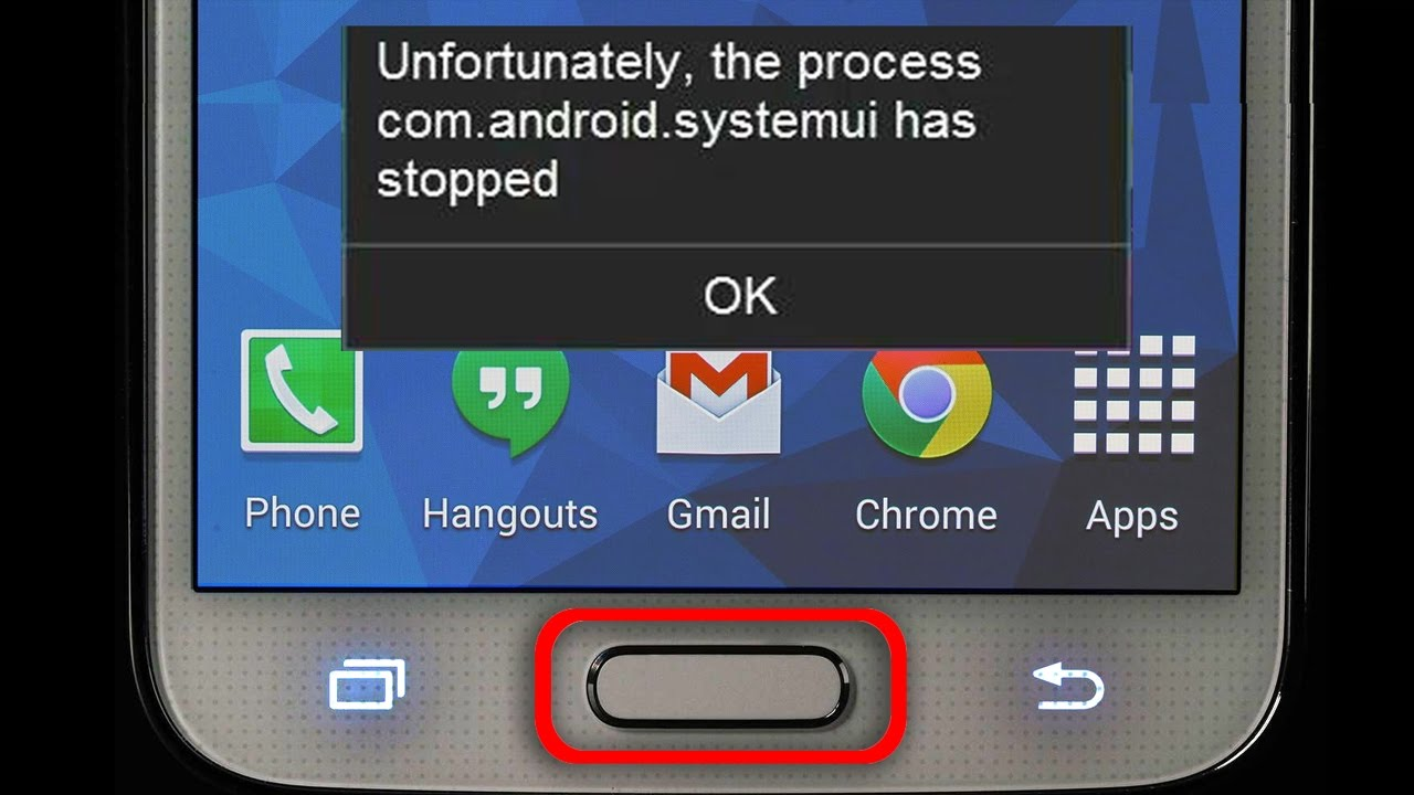 System UI has Stopped working