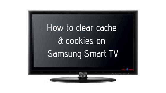 Delete Cache and Data on Samsung Smart TV