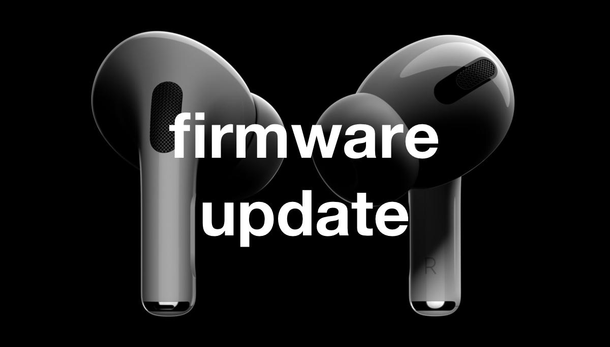 update AirPods firmware