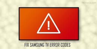 Samsung TV Error Codes