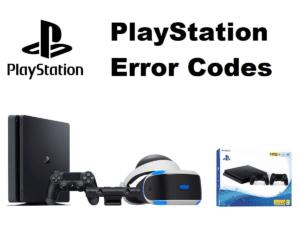 PlayStation 4 Error