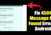Fix 4504 Message Not Found Error