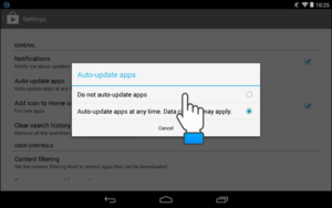 turn off auto-update for specific apps on android