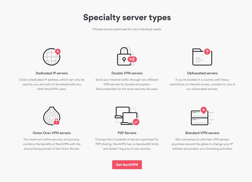 Specialty NordVPN server